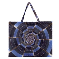 Midnight Crazy Dart Zipper Large Tote Bag by designworld65
