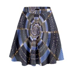 Midnight Crazy Dart High Waist Skirt by designworld65