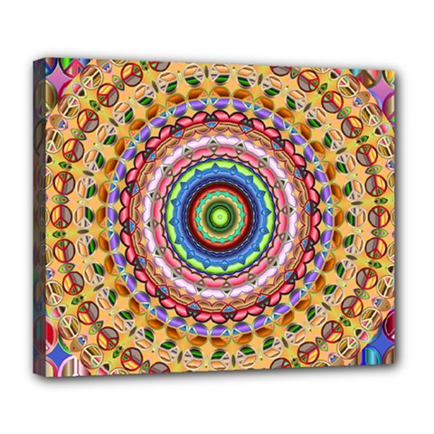 Peaceful Mandala Deluxe Canvas 24  X 20   by designworld65