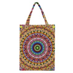 Peaceful Mandala Classic Tote Bag by designworld65