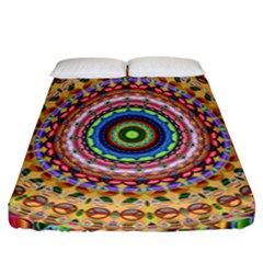 Peaceful Mandala Fitted Sheet (california King Size) by designworld65