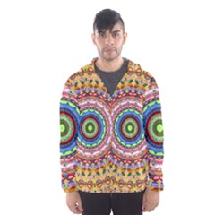 Peaceful Mandala Hooded Wind Breaker (men) by designworld65