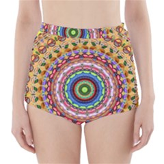 Peaceful Mandala High Waisted Bikini Bottoms by designworld65