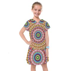 Peaceful Mandala Kids  Drop Waist Dress by designworld65