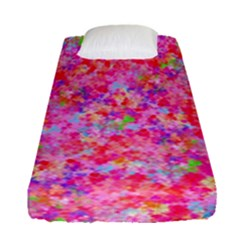 The Big Pink Party Fitted Sheet (single Size) by designworld65