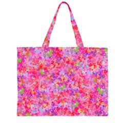 The Big Pink Party Zipper Large Tote Bag by designworld65