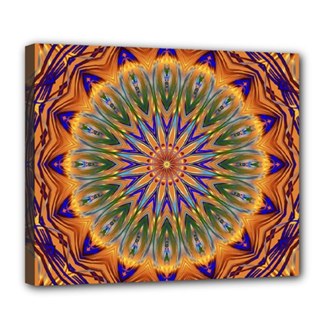 Powerful Mandala Deluxe Canvas 24  X 20   by designworld65