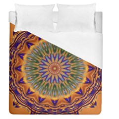 Powerful Mandala Duvet Cover (queen Size) by designworld65