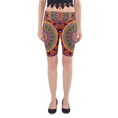 Powerful Mandala Yoga Cropped Leggings by designworld65