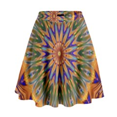 Powerful Mandala High Waist Skirt by designworld65
