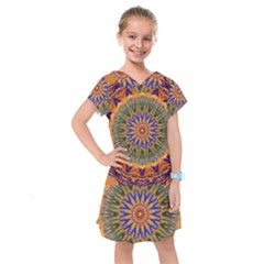 Powerful Mandala Kids  Drop Waist Dress by designworld65