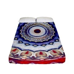 Romantic Dreams Mandala Fitted Sheet (full/ Double Size) by designworld65