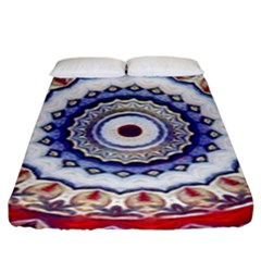 Romantic Dreams Mandala Fitted Sheet (king Size) by designworld65