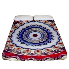 Romantic Dreams Mandala Fitted Sheet (california King Size) by designworld65