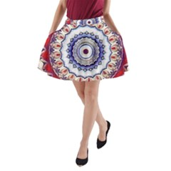 Romantic Dreams Mandala A Line Pocket Skirt by designworld65