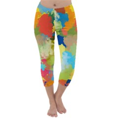 Summer Feeling Splash Capri Winter Leggings  by designworld65