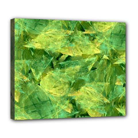 Green Springtime Leafs Deluxe Canvas 24  X 20   by designworld65