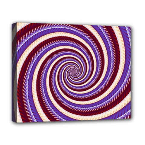 Woven Spiral Deluxe Canvas 20  X 16   by designworld65