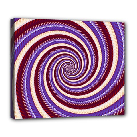Woven Spiral Deluxe Canvas 24  X 20   by designworld65