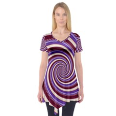 Woven Spiral Short Sleeve Tunic  by designworld65