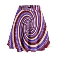 Woven Spiral High Waist Skirt by designworld65