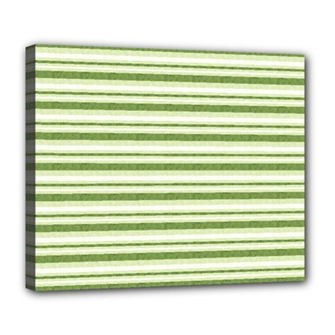 Spring Stripes Deluxe Canvas 24  X 20   by designworld65