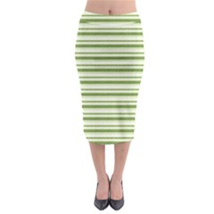Spring Stripes Midi Pencil Skirt by designworld65