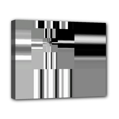 Black And White Endless Window Canvas 10  X 8  by designworld65