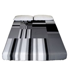 Black And White Endless Window Fitted Sheet (queen Size) by designworld65