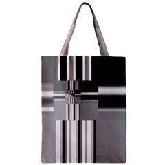 Black And White Endless Window Zipper Classic Tote Bag by designworld65
