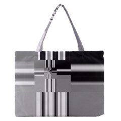 Black And White Endless Window Zipper Medium Tote Bag by designworld65