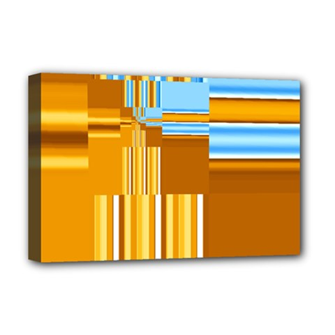 Endless Window Blue Gold Deluxe Canvas 18  X 12   by designworld65