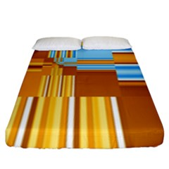 Endless Window Blue Gold Fitted Sheet (king Size) by designworld65