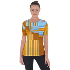 Endless Window Blue Gold Short Sleeve Top