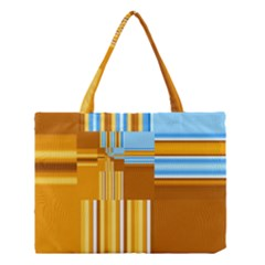 Endless Window Blue Gold Medium Tote Bag by designworld65