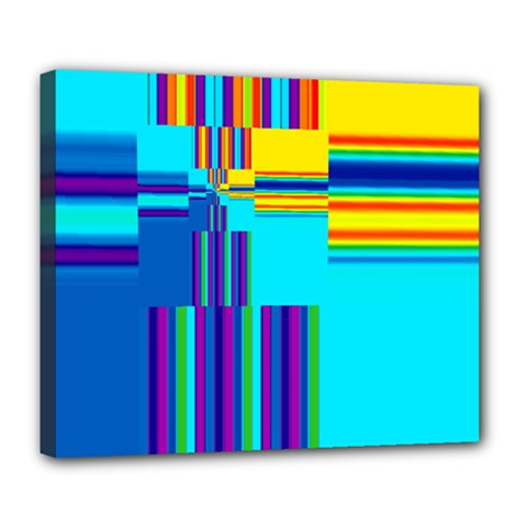 Colorful Endless Window Deluxe Canvas 24  X 20   by designworld65