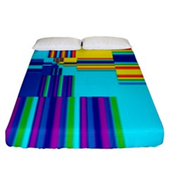Colorful Endless Window Fitted Sheet (king Size) by designworld65