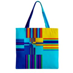 Colorful Endless Window Zipper Grocery Tote Bag by designworld65