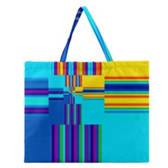 Colorful Endless Window Zipper Large Tote Bag by designworld65