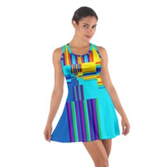 Colorful Endless Window Cotton Racerback Dress by designworld65