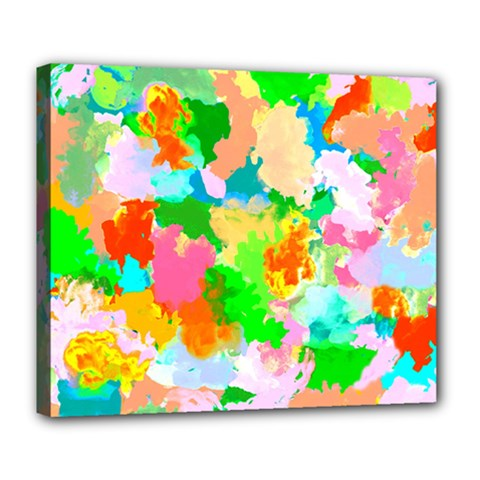 Colorful Summer Splash Deluxe Canvas 24  X 20   by designworld65