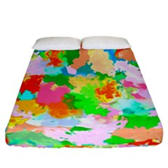 Colorful Summer Splash Fitted Sheet (california King Size) by designworld65