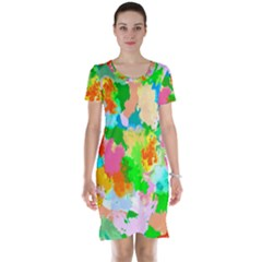 Colorful Summer Splash Short Sleeve Nightdress by designworld65