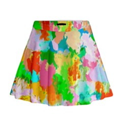 Colorful Summer Splash Mini Flare Skirt by designworld65