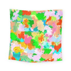Colorful Summer Splash Square Tapestry (small) by designworld65