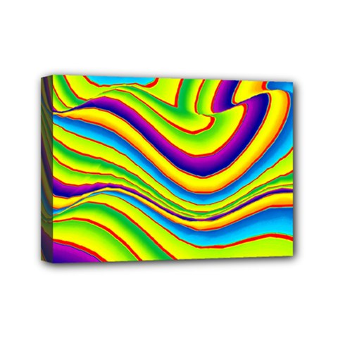 Summer Wave Colors Mini Canvas 7  X 5  by designworld65