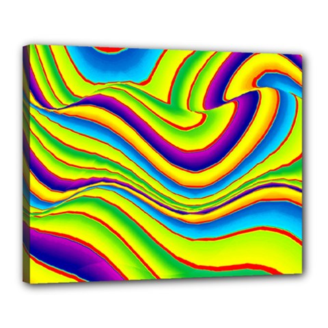 Summer Wave Colors Canvas 20  X 16  by designworld65