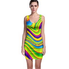 Summer Wave Colors Bodycon Dress by designworld65