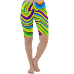 Summer Wave Colors Cropped Leggings  by designworld65