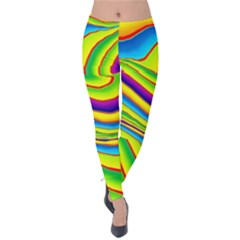 Summer Wave Colors Velvet Leggings by designworld65